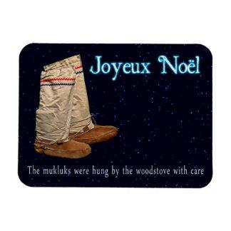 Navidad Mukluks Imán Flexible