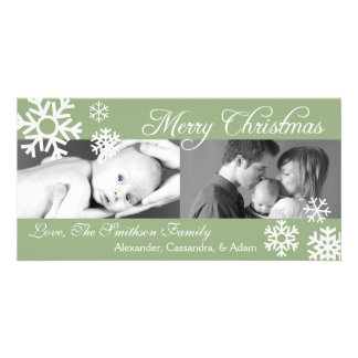 Navidad múltiple Photocard sabio de los copos de Tarjetas Personales