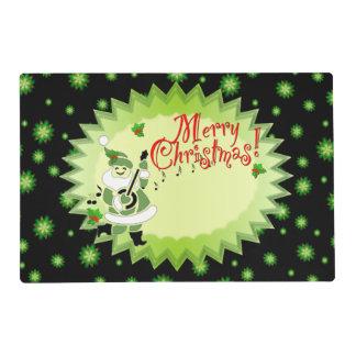 Navidad musical alegre del duende de Santa Tapete Individual