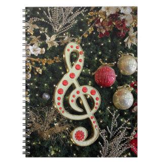Navidad musical note book