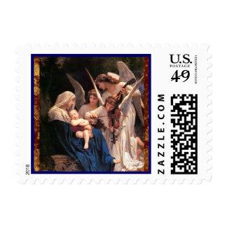 Navidad musical de los ángeles franqueo