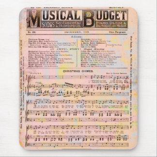 Navidad musical del presupuesto alfombrilla de raton