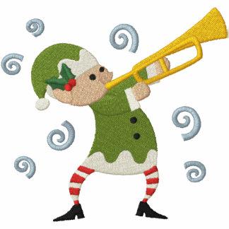 Navidad musical - duende sudadera embordada