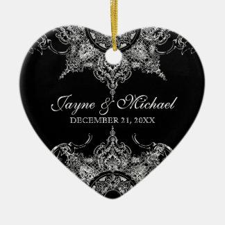 Navidad n del remolino blanco negro del damasco de ornamentos para reyes magos