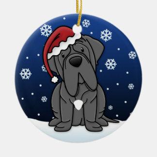 Navidad napolitano del mastín del dibujo animado d adornos de navidad