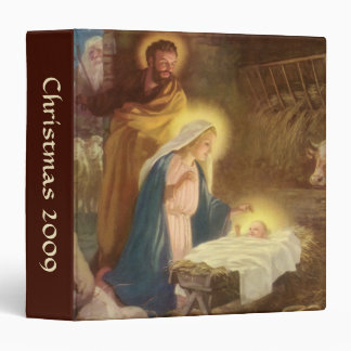 """Navidad natividad, bebé Jesús del vintage de Maria Carpeta 1 1/2"""""""