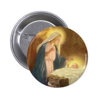 Navidad natividad, bebé Jesús del vintage de Maria Pins