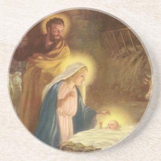 Navidad natividad, bebé Jesús del vintage de Maria Posavasos Diseño