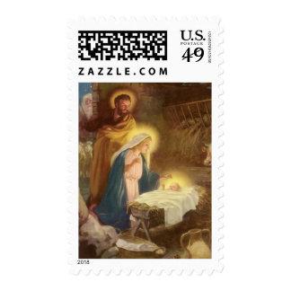 Navidad natividad, bebé Jesús del vintage de Maria Sello