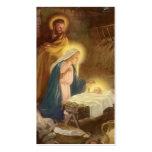 Navidad natividad, bebé Jesús del vintage de Maria Plantillas De Tarjetas De Visita