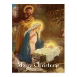 Navidad natividad, bebé Jesús del vintage de Maria Tarjeta Postal