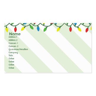 Navidad - negocio tarjetas de visita