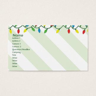Navidad - negocio tarjeta de negocios