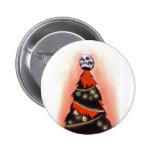 NAVIDAD NEGRA: Feliz Navidad Pin Redondo De 2 Pulgadas
