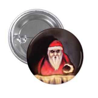 Navidad negra: Papá Noel está aquí Pin Redondo De 1 Pulgada