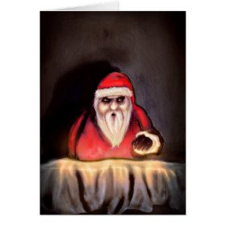 Navidad negra Papá Noel está aquí Felicitación
