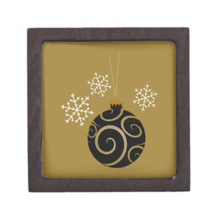 Navidad negro chuchería y copos de nieve cajas de regalo de calidad