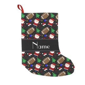 Navidad negro conocido personalizado del fútbol calcetín navideño pequeño
