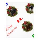 Navidad negro de Navidad Brown LandseNewf Terranov Membretes Personalizados