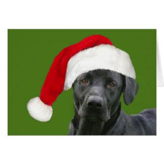 Navidad negro del laboratorio tarjeta de felicitación