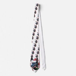Navidad negro del pastor alemán corbatas