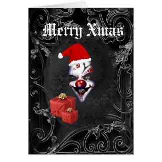 Navidad negro gótico divertido de santa tarjeta de felicitación