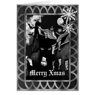 Navidad negro gótico fantasmagórico tarjeta de felicitación