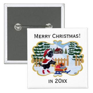 Navidad negro Santa de Labrador Pins