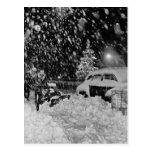 Navidad Nevado en el vintage de New York City Postal
