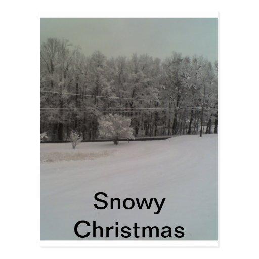 Navidad Nevado Tarjeta Postal
