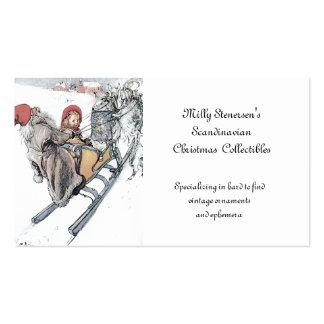 Navidad Nisse y Kirsti Tarjetas De Visita
