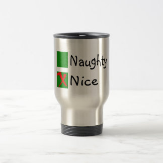 Navidad no travieso agradable tazas de café