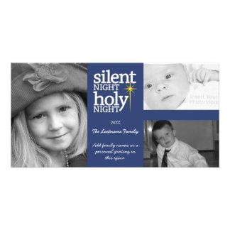 Navidad - noche silenciosa - collage de 3 fotos tarjetas personales