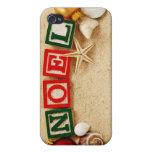 Navidad Noel en la playa iPhone 4 Carcasas