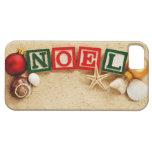 Navidad Noel en la playa iPhone 5 Protectores