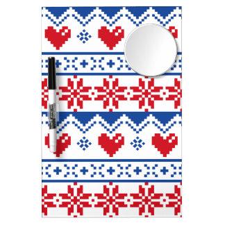 Navidad nórdico en rojo y azul pizarra