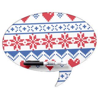 Navidad nórdico en rojo y azul pizarra blanca