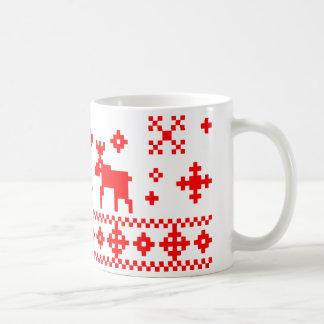 Navidad noruego taza básica blanca