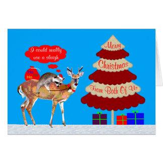 Navidad nosotros dos tarjeta de felicitación