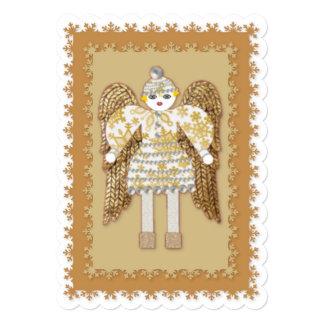 Navidad nota o invitación del ángel de la nieve