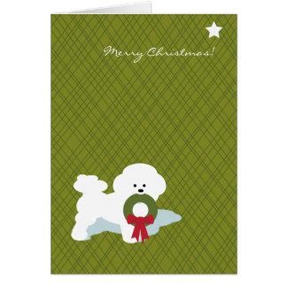 Navidad Notecard de Bichon Frise