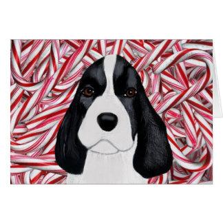 Navidad Notecard del perrito del perro de aguas de Tarjeton