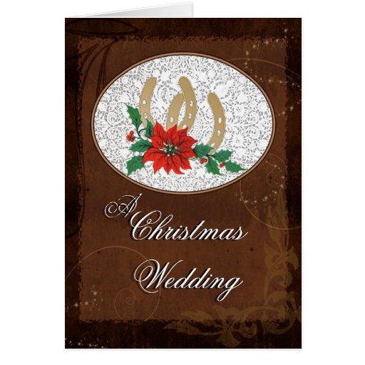 Navidad occidental que casa la invitación tarjeta de felicitación
