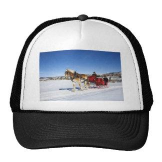 Navidad occidental - trineo del navidad del caball gorras de camionero