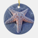 Navidad Oranament de las estrellas de mar Adorno Redondo De Cerámica