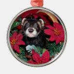 Navidad Oranment del hurón Ornamento Para Arbol De Navidad