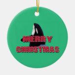 Navidad Ornam del salto del espía de la ballena de Adorno De Reyes