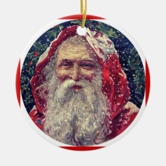 Navidad Orname de Papá Noel del Victorian Adorno Redondo De Cerámica