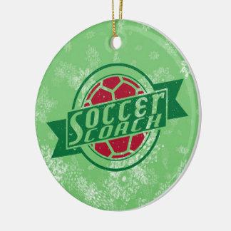 Navidad ornamento, coche del fútbol del fútbol adorno redondo de cerámica