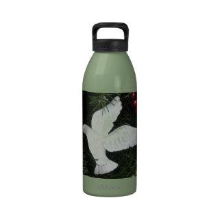 Navidad ornamento fotografía de la paloma de la p botellas de beber